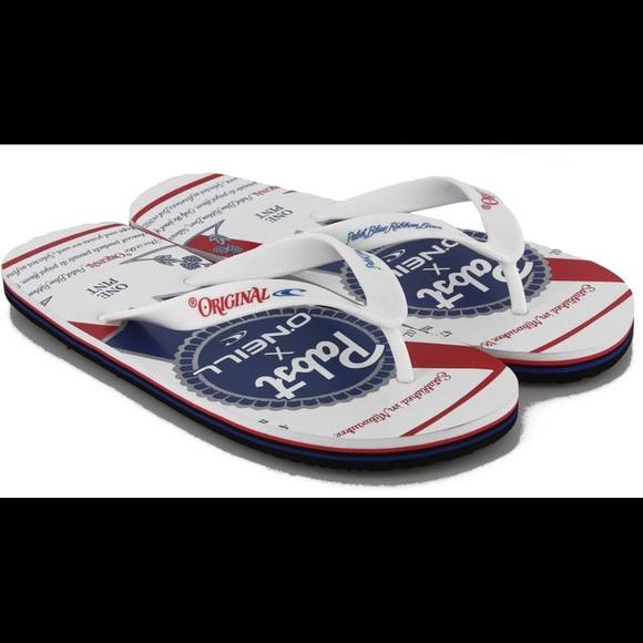 23a473f48aaf8f O Neill Pabst Flip Flops size 11